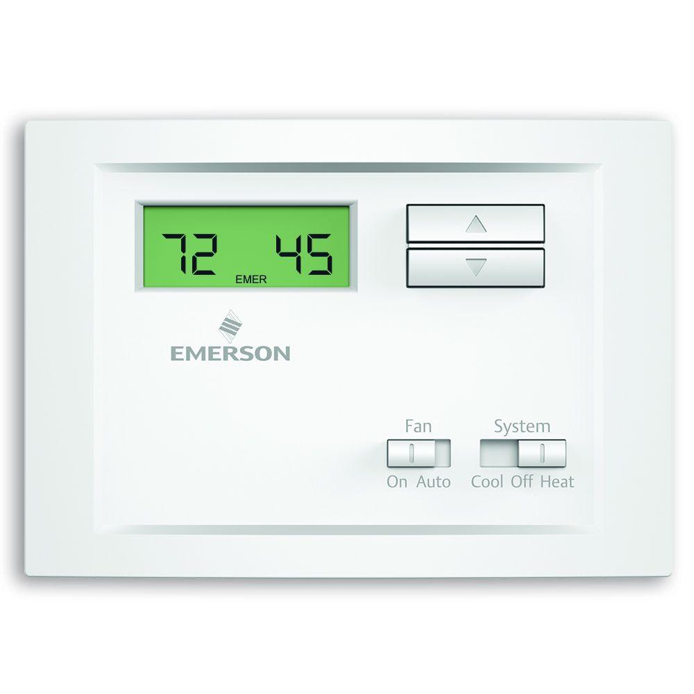 emerson thermostat manual system on 2