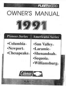 1993 coleman destiny owners manual