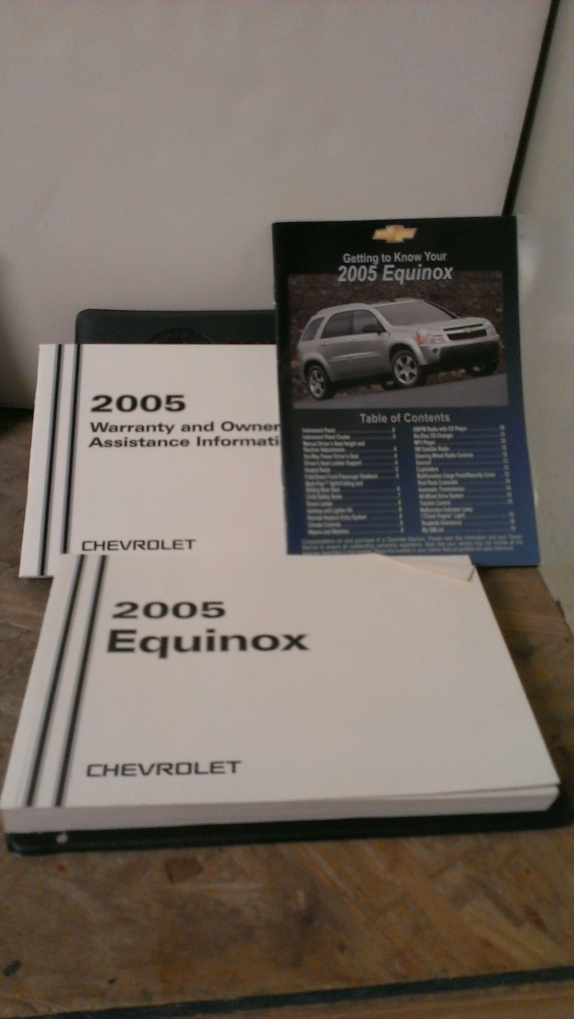 2005 chevy equinox owners manual pdf