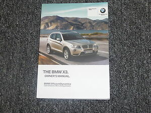 bmw x3 owners manual 2015